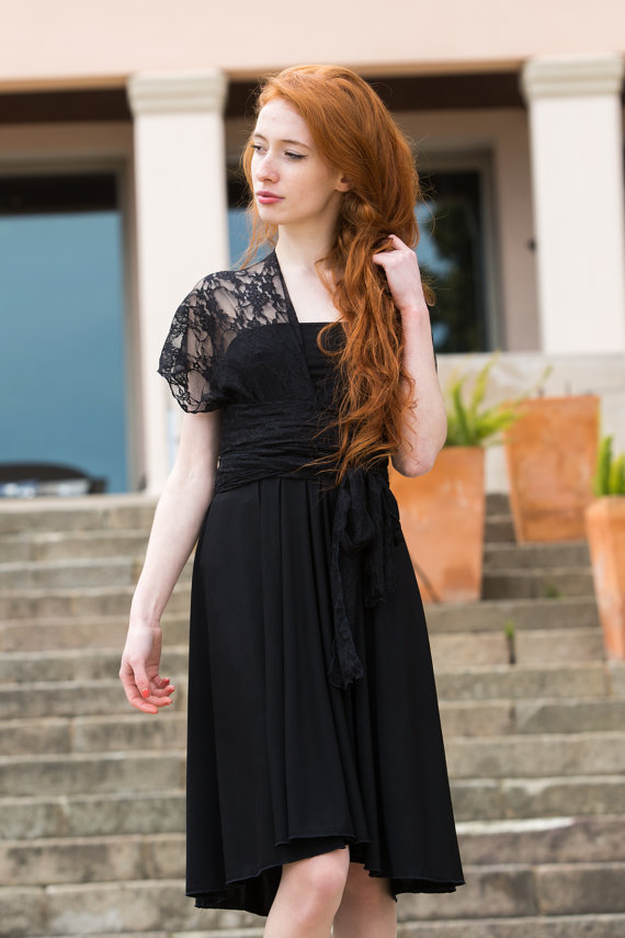 Romantic black dresses