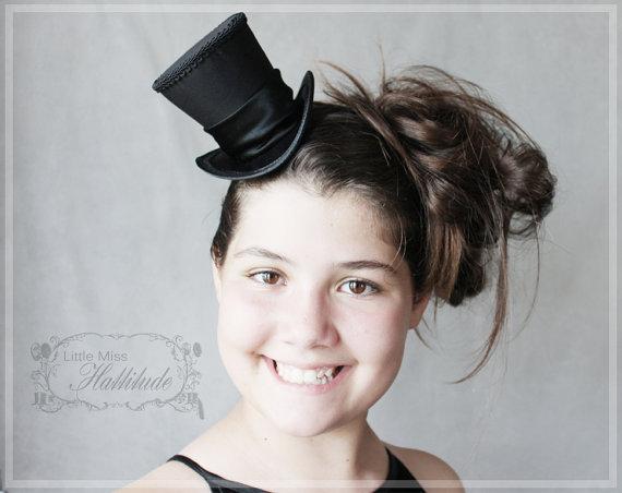 Black Mini Top Hat Wedding Top Hat Tea Party Hat Mad Hatter
