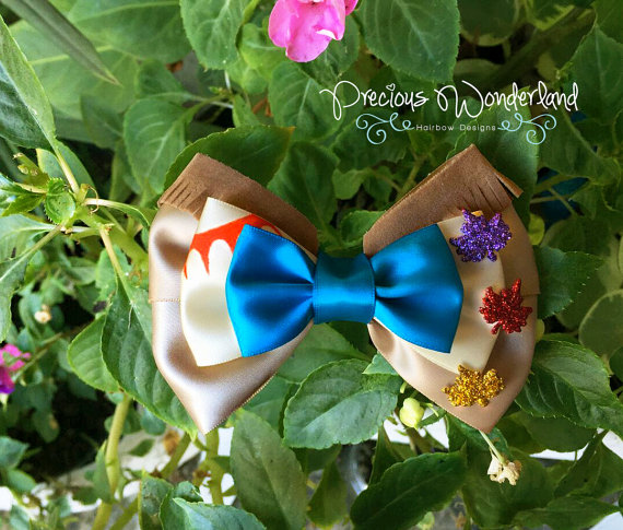 Mariage - The Colors of the Wind Hair Bow