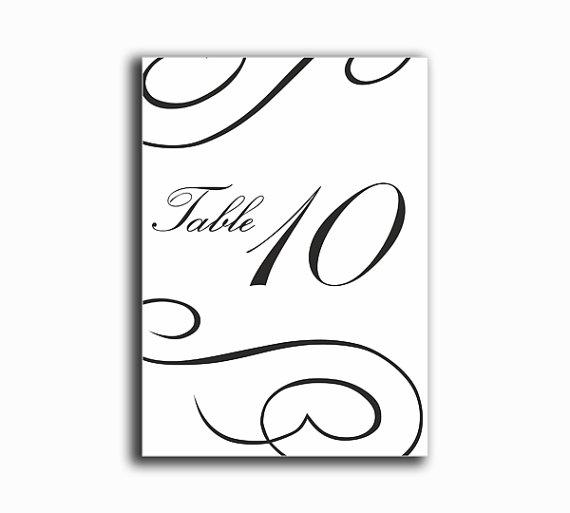 Mariage - Printable Table Numbers DIY Instant Download Elegant Wedding Table Numbers Black Table Numbers Printable Table Cards Digital (Set 1-20)