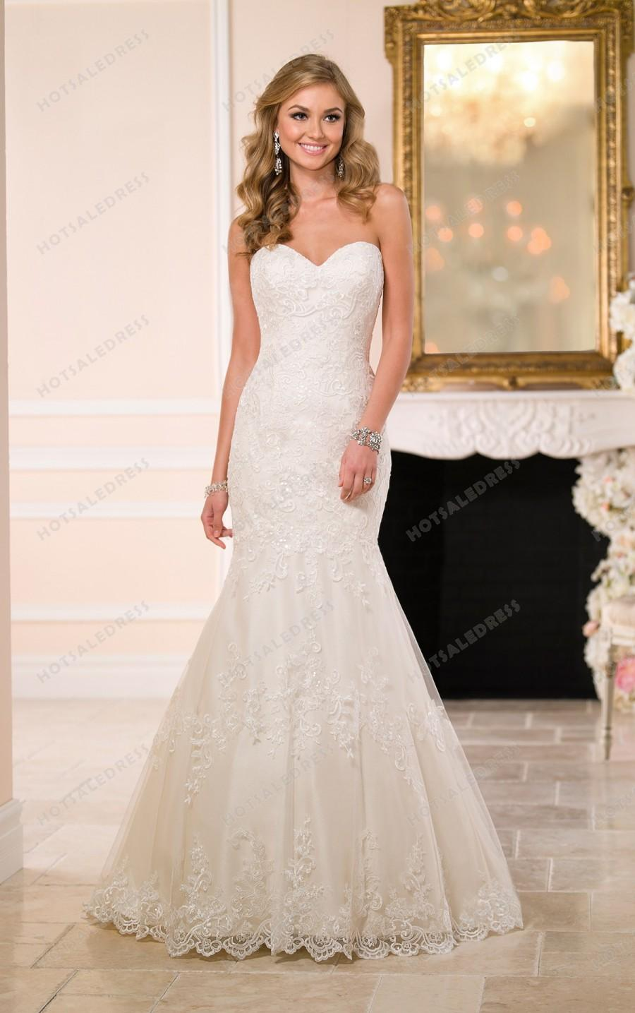 Mariage - Stella York Fitted Lace Wedding Dress Style 6034