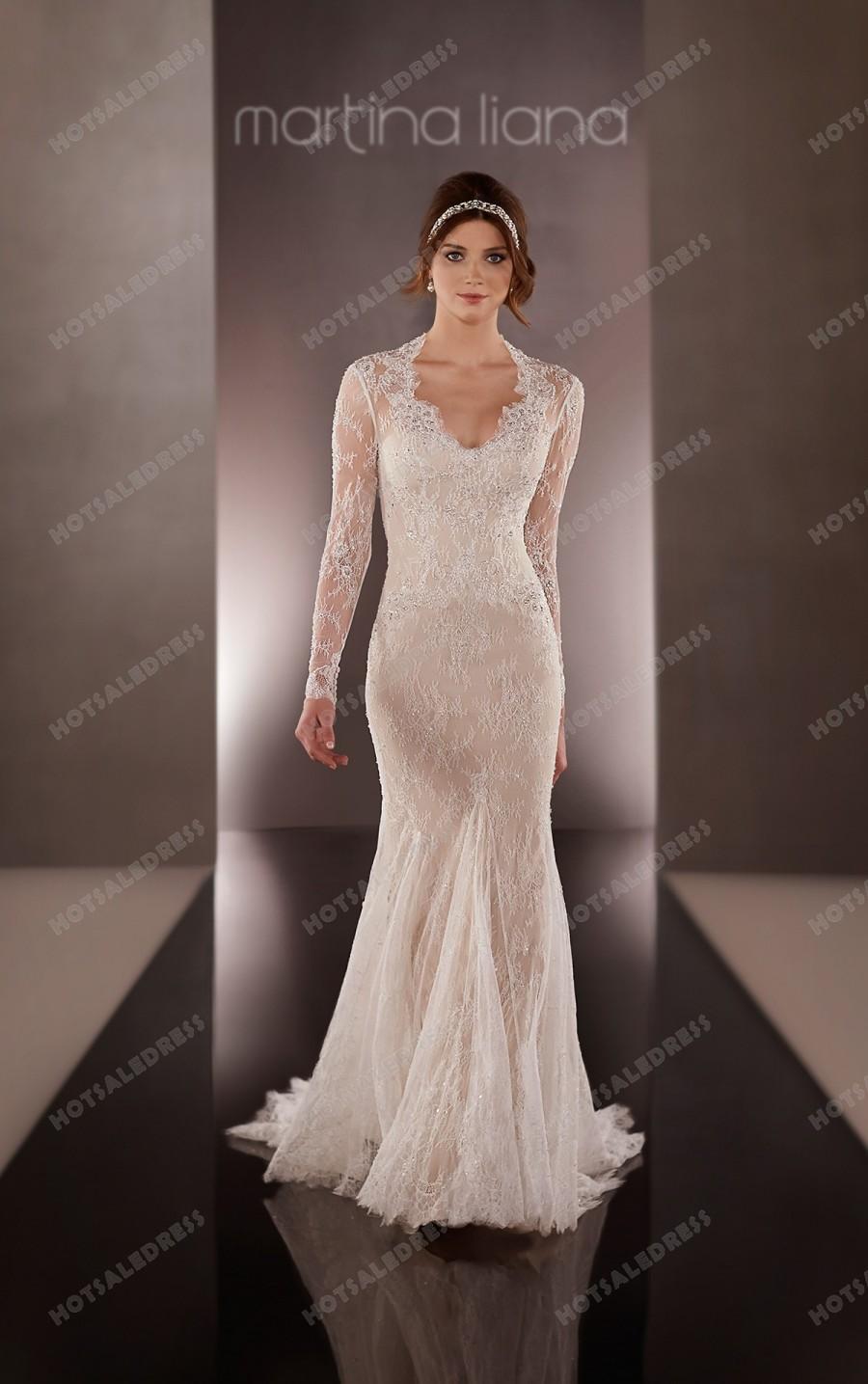 Wedding - Martina Liana Lace Sleeve Wedding Dress Style 699