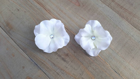 Bridal soft white hydrangea flower hair clips small flower hair pins bridal soft white hydrangea flower hair clips small flower hair pins floral hair piece flower girl hair accessory silver bobby pin mightylinksfo