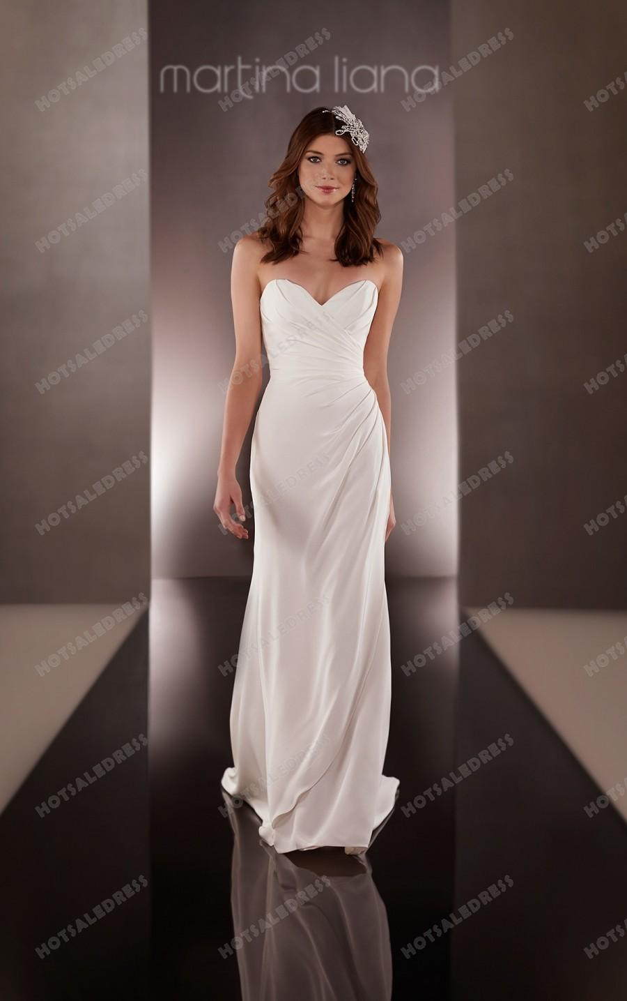 Wedding - Martina Liana Asymmetrical Wedding Dress Style 653