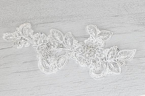 Свадьба - Bridal lace hair accessory. Handmade bridal lace hair piece. Flower crown. Bridal fascinator. Wedding hair crown.