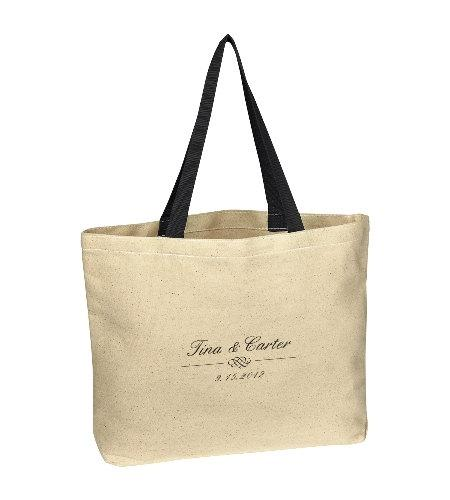 زفاف - 50 Wedding Tote Bags, Destination Wedding Tote Bags, Personalized Bags with Your Name & Date