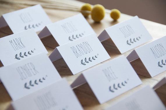 زفاف - Wedding Place Cards, Escort Cards, Wedding Name cards - Digital download