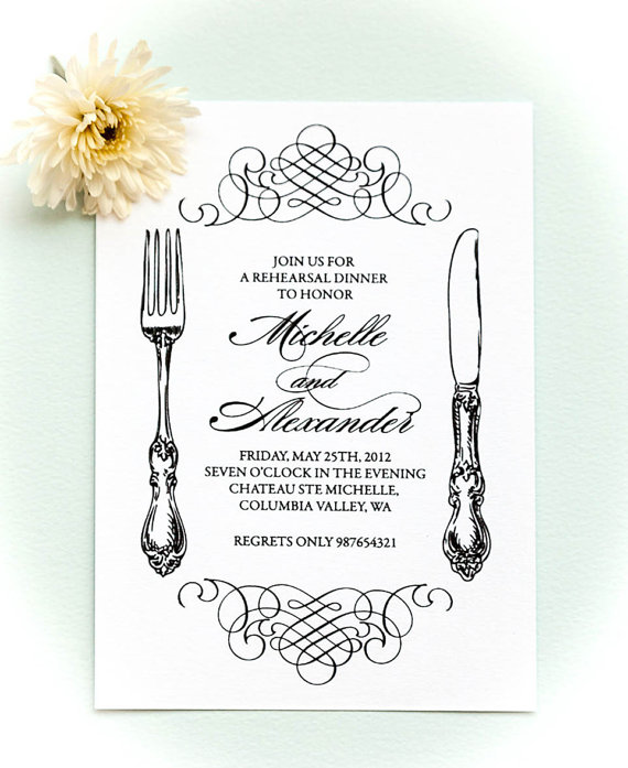 Hochzeit - Printable rehearsal dinner invitation