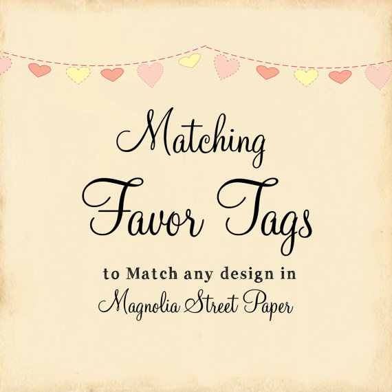 Hochzeit - Matching Favor Tags to Coordinate with Any Design in Shop, Wedding Favor Tags, Shower Favor Tags, Holiday Favor Tags, Birthday Favor Tags