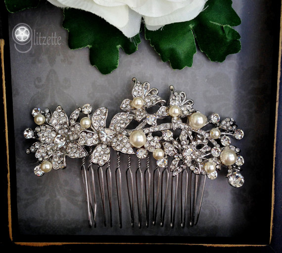 Mariage - wedding hair piece,pearl bridal comb,bridal headpiece,wedding hair accessories,weddings bridal accessories hair,wedding hair comb,crystal