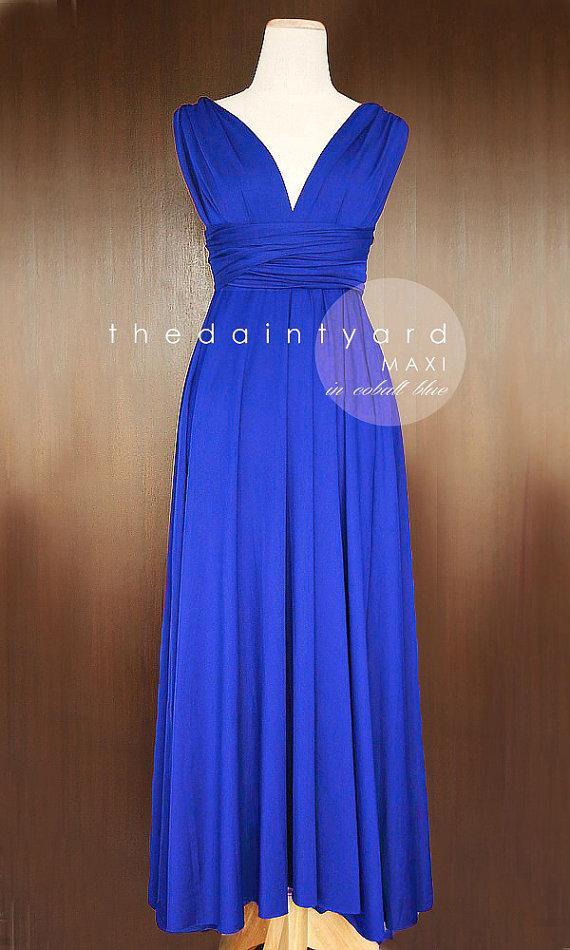 Свадьба - MAXI Cobalt Blue Bridesmaid Dress Convertible Dress Infinity Dress Multiway Dress Twist Dress Wrap Dress Prom Dress Long Dress Cocktail