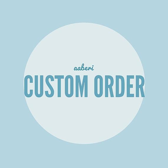 Mariage - Custom ORder for Alyssa Spano