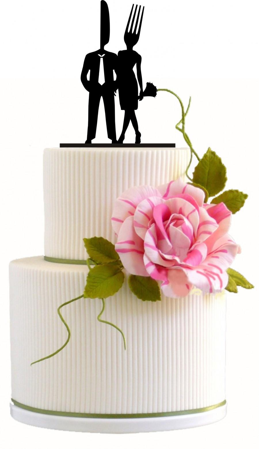Wedding Cake Topper Silhouette / Cake Lover #2392102 - Weddbook
