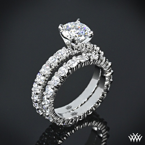 "Eternity Ring Wedding Set: Platinum ""Diamonds For An Eternity"" Diamond Engagement"