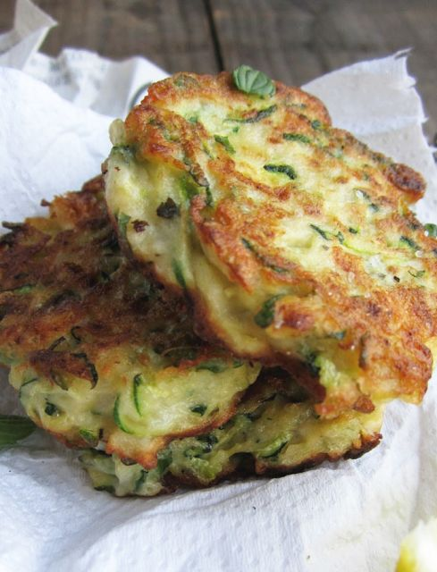 Cheese Zucchini & Ricotta Fritters With Feta, Dill And ...