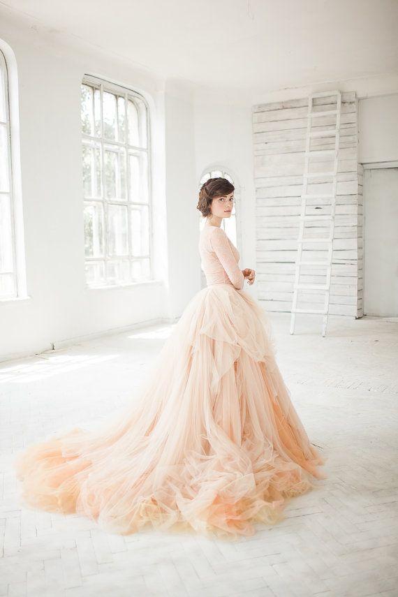 Wedding - Nude Tulle Wedding Skirt // Peony