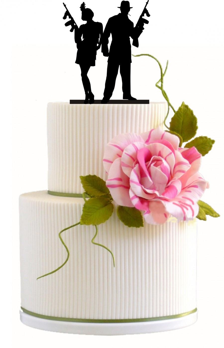 Custom Wedding Cake Topper Silhouette