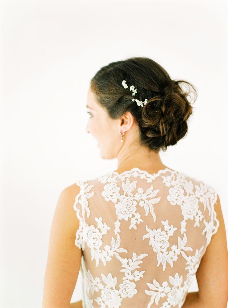 Wedding - Look We Love: Floral Wedding Dress Details
