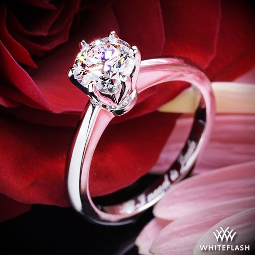 Mariage - 18k White Gold Elegant Solitaire Engagement Ring