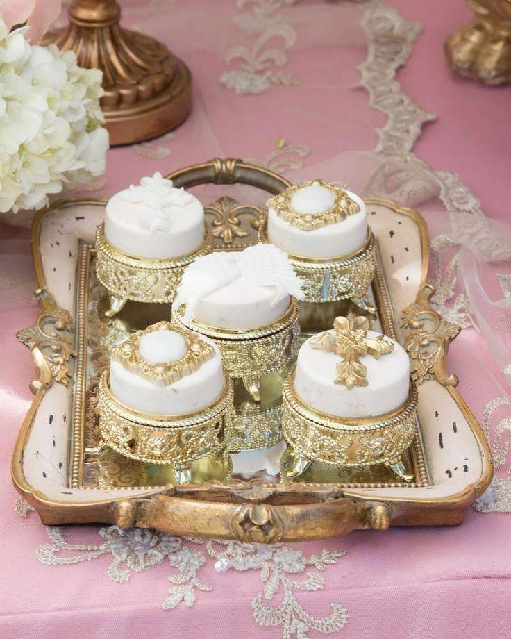 Свадьба - Pink And Gold Baptism Party Ideas