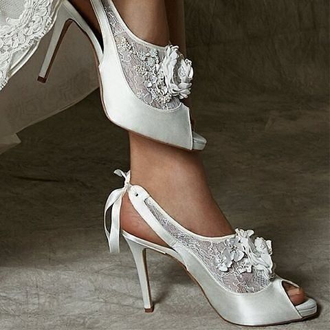 Strictlyweddings On Instagram Enchanting Mio Couture Shoes By Freyaroseshoes Features Ribbon Detail The Back As Well A Large Blossom Flower