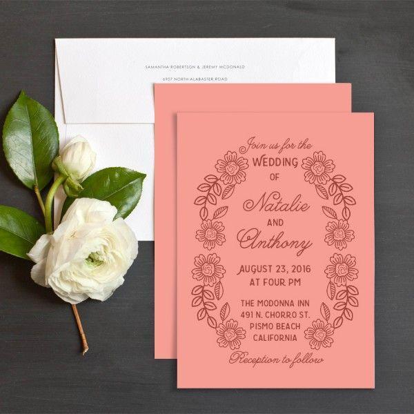 زفاف - Etched Florals Wedding Invitations By Bold Paper Co.