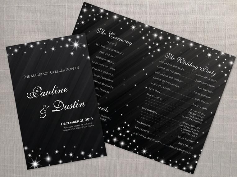 diy printable wedding program template 2394809 weddbook