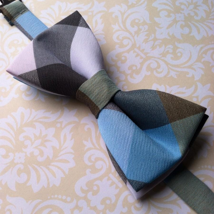 Mariage - Men's Bow Tie - Men's Bowtie - Plaid Bow Tie - Preppy Bow Tie - Striped Bow Tie - Wedding Bow Ties - Pre-Tied Bow Tie with Strap - Polyester