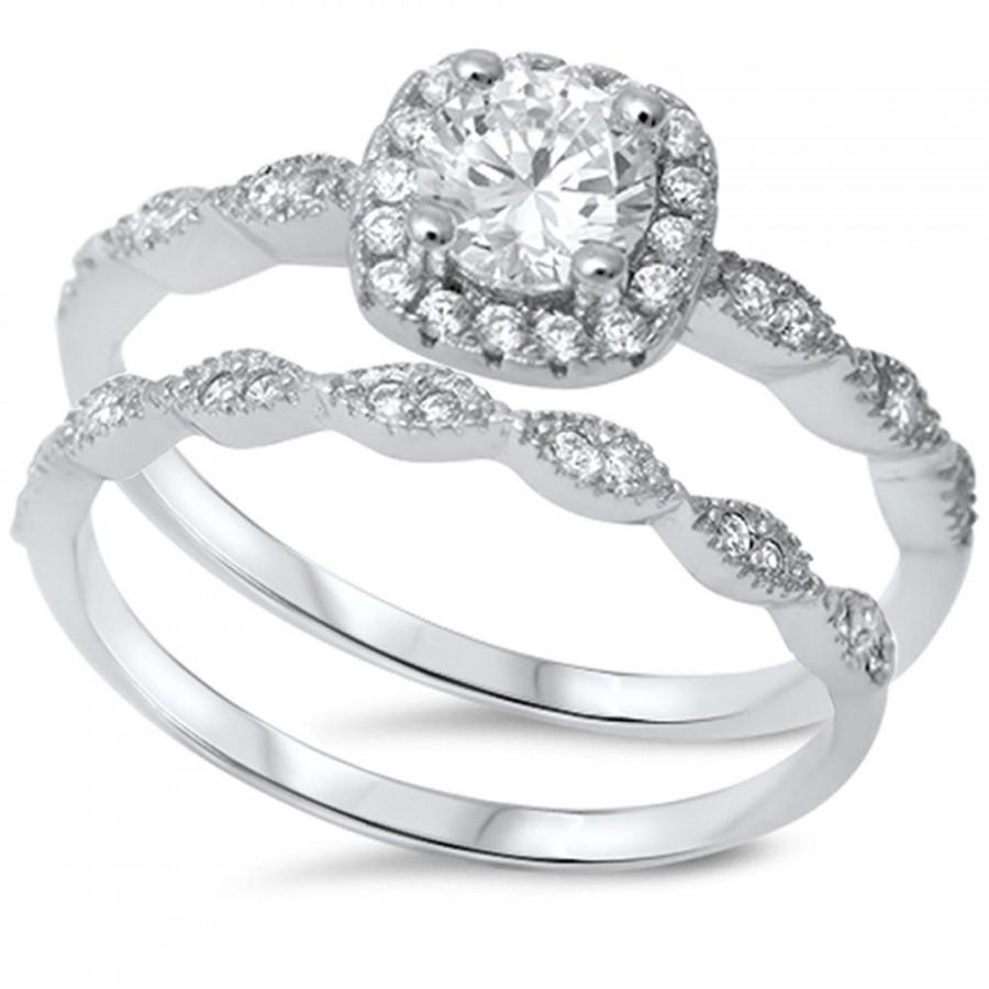 wedding ring sets vintage vintage wedding ring sets Vintage Style Wedding Ring Set