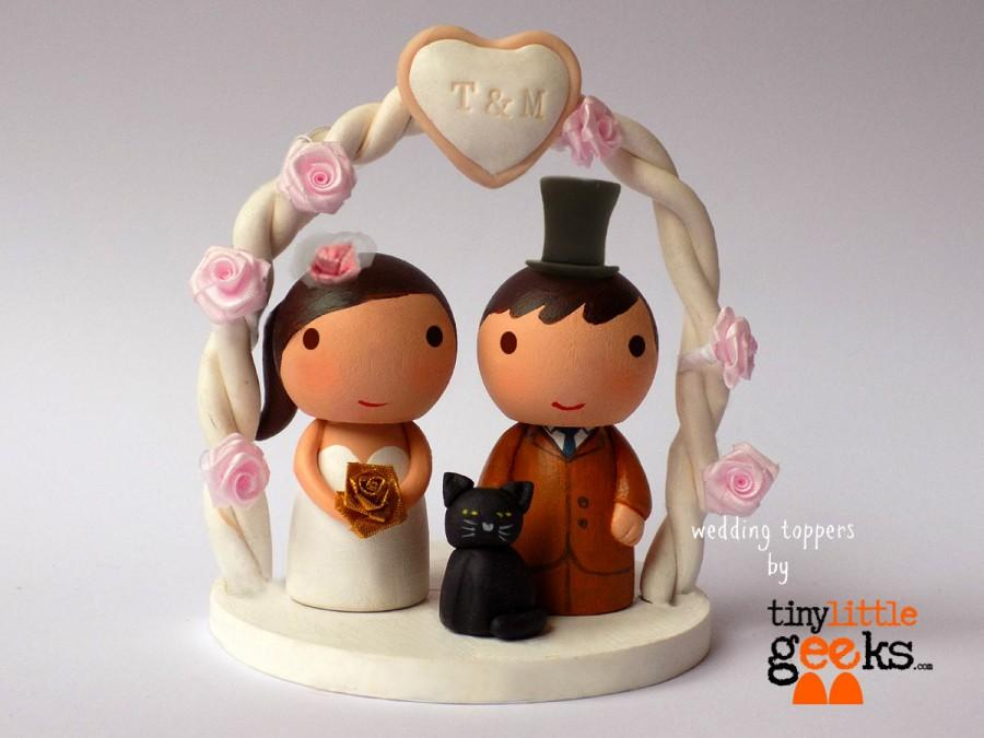 Mariage - Wedding Cake Topper - Custom Cake Topper with Pet