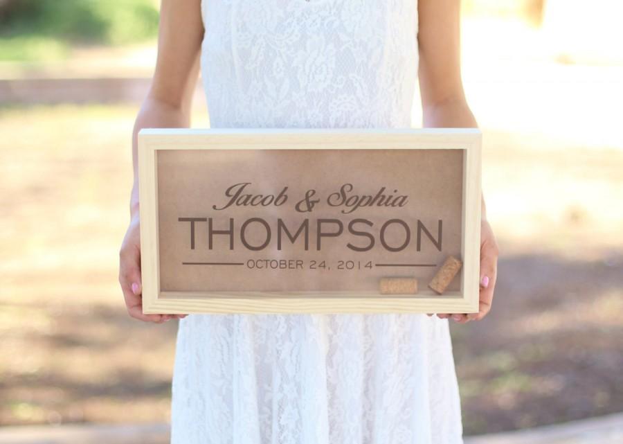 زفاف - Personalized Wine Cork Keeper or Beer Cap Keeper Custom Wedding Gift Rustic Barn Wedding Bridal Shower Present (Item Number NMHD1555)