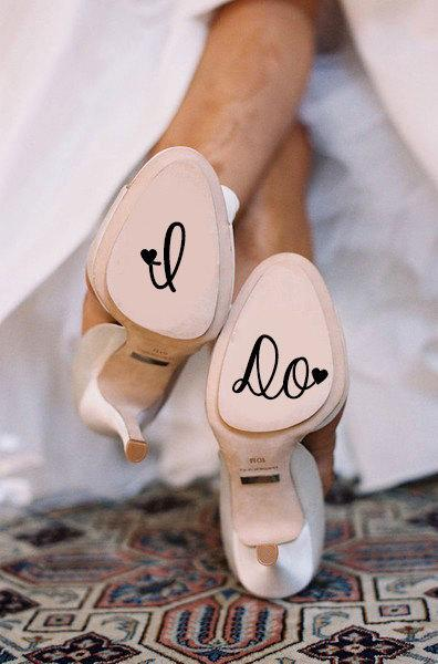 زفاف - I Do Wedding Shoe Decal