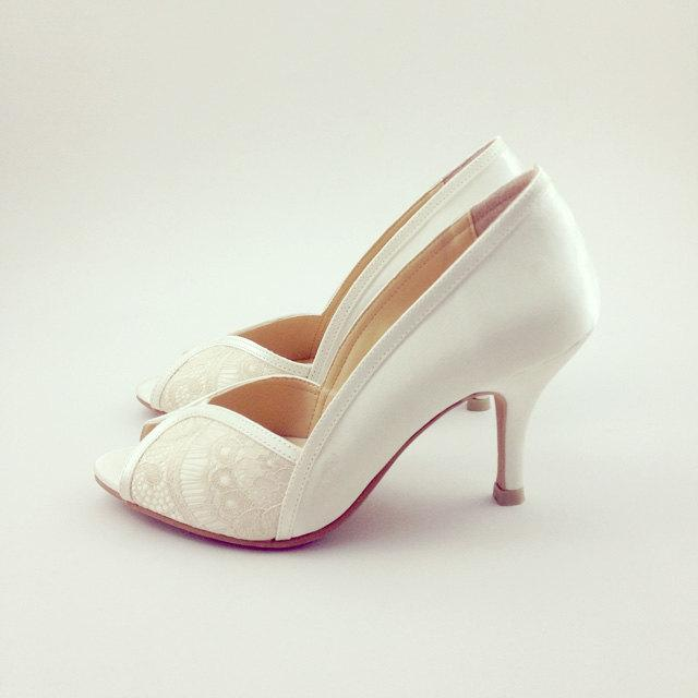 Ivory Lace Wedding Shoes Ivory Lace Bridal Shoes White Ivory Wedding Shoes Ivory Lace