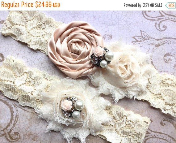 Mariage - Bridal Garter, Wedding Garter, Blush Wedding Garter, Blush Garter Set, Blush Ivory Wedding Garter, Blush Garter, Ivory Bridal Garter