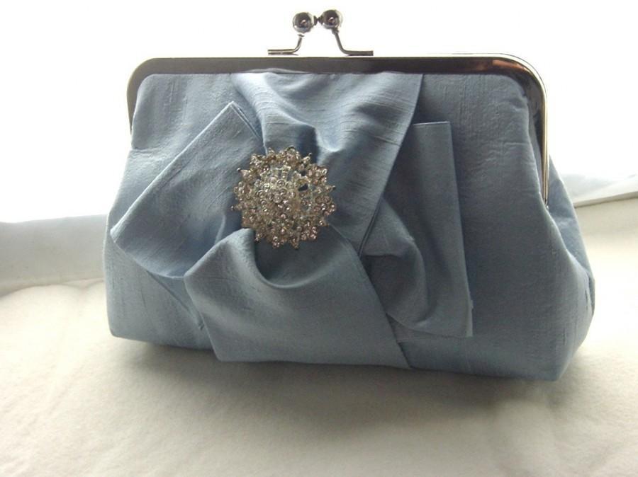 Mariage - Bridal Clutch - Wedding Clutch - Bridesmaid Clutch - Wedding Purse - Bridal Purse -Bridal Gift -Bridesmaid Gift - Blue Clutch - Chloe Clutch