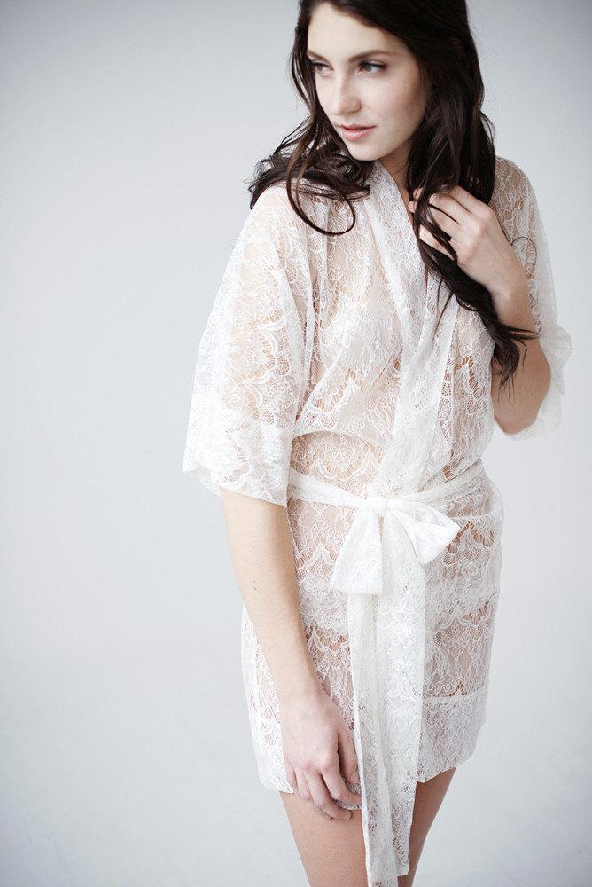 Mariage - Lace Robe - Priscilla