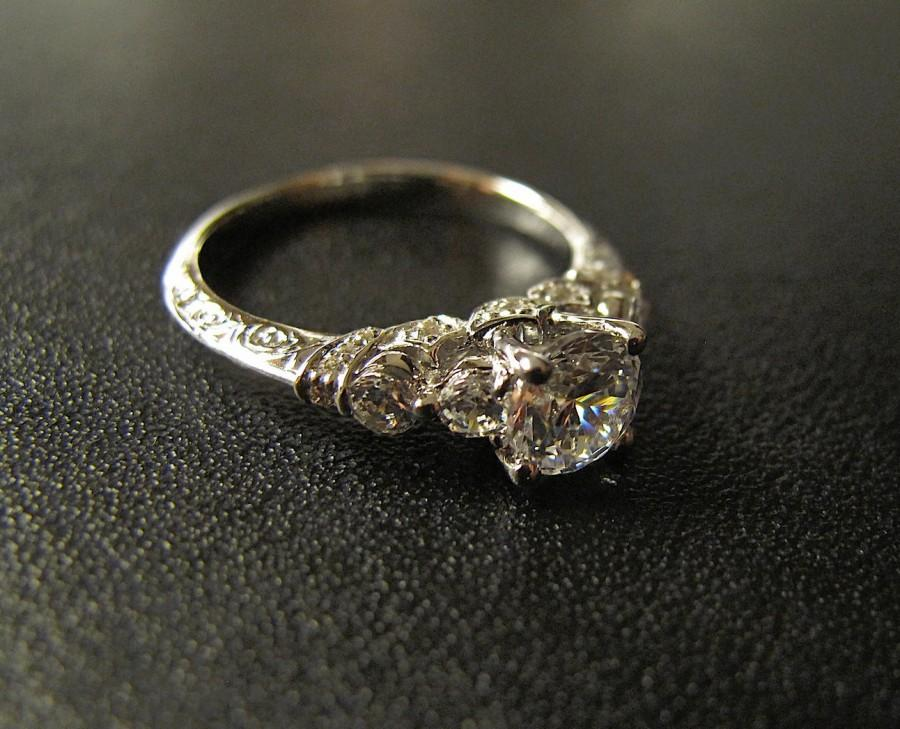 Свадьба - One of our Best Sellers; Vintage-Inspired Engagement Ring, Made to Order