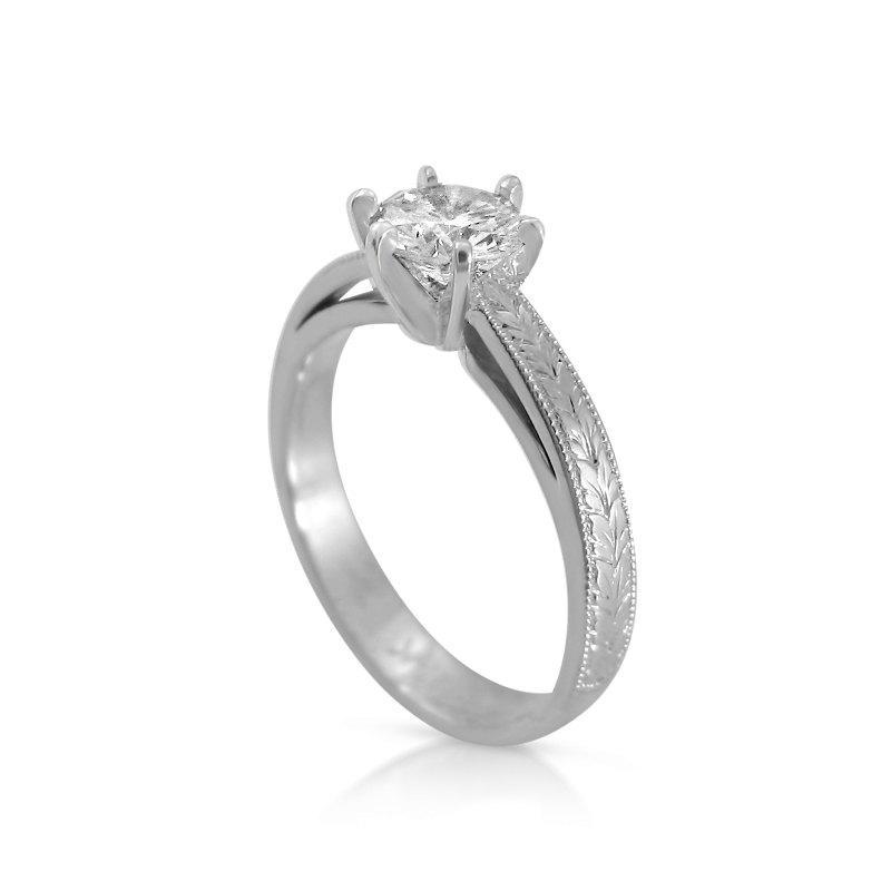 زفاف - Royal Engagement Ring, Diamond rings for women, Solitaire engagenet ring, White gold ring, Unique engagement ring, Designer engagement rings