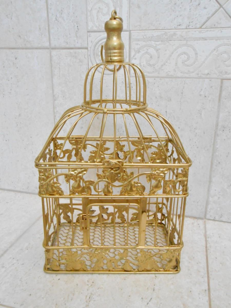 Small Gold Wedding Birdcage Wedding Card Box Wedding Birdcage – How to Decorate a Wedding Card Box