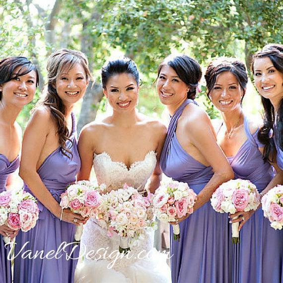 زفاف - Purple Bridesmaid Dress, Convertible Bridesmaid Dress, One Dress Endless Styles - INFINITY Bridesmaids Dress -Custom Made Petal Purple