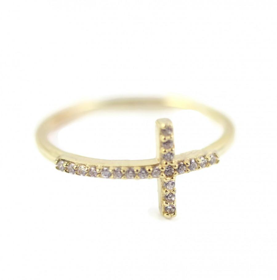 14k yellow gold solid 925 sterling silver sideways