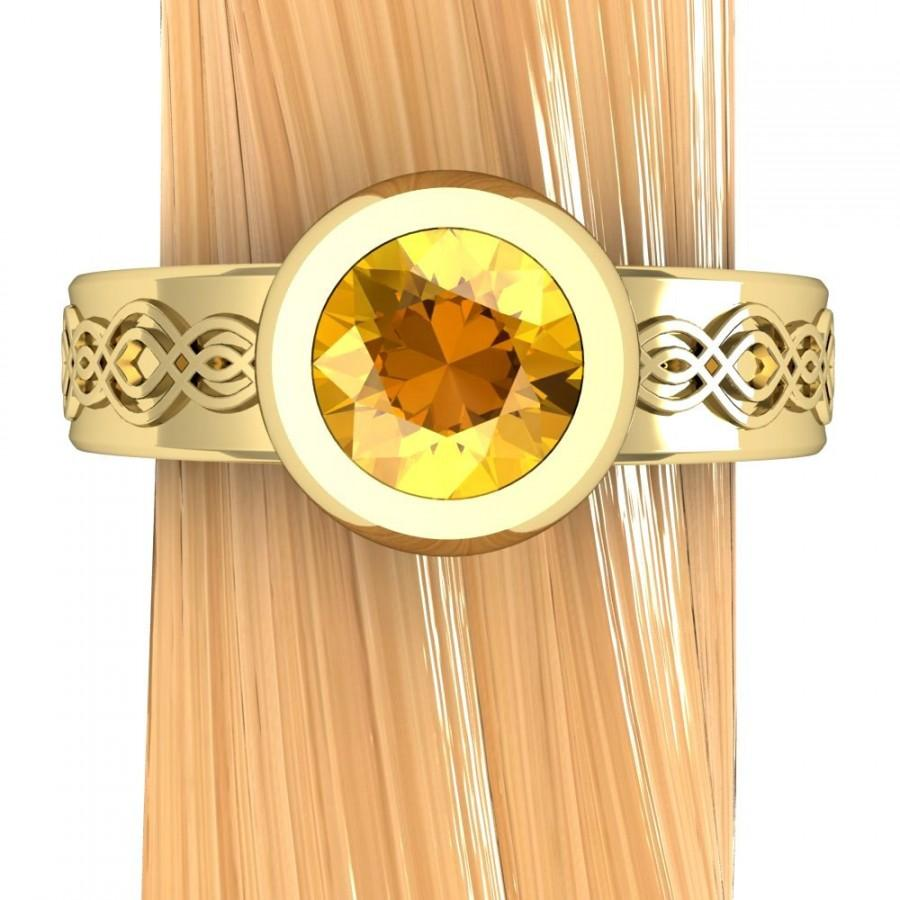 montana yellow sapphire ring low profile engagement ring