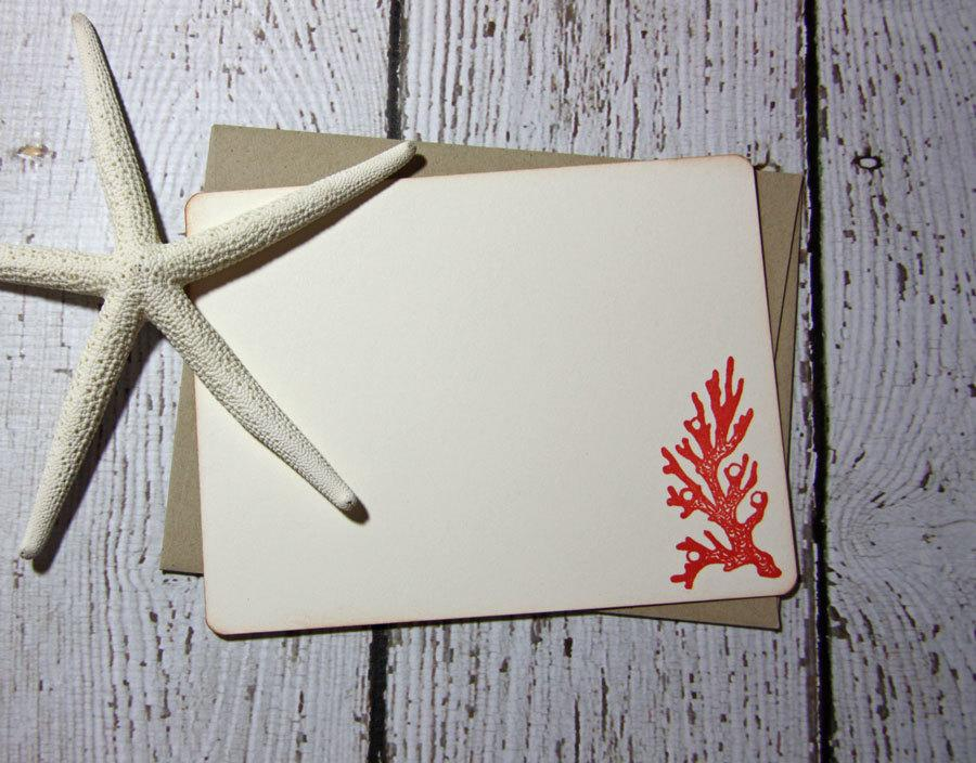 ocean inspired stationery coral stationery beach stationery set
