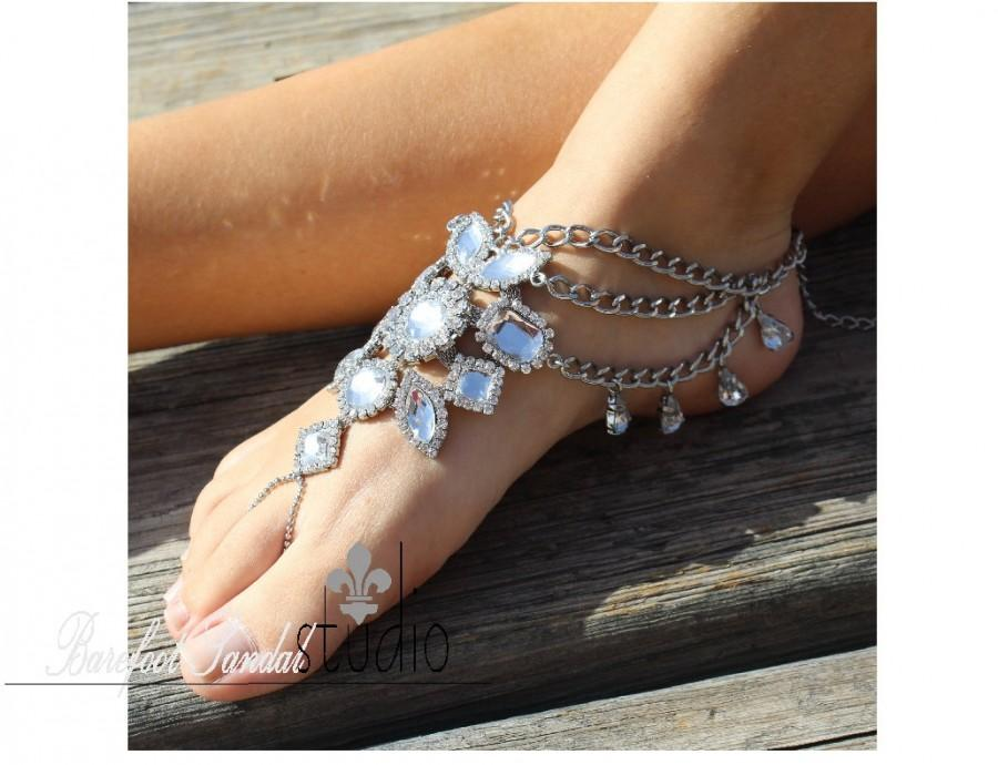 Barefoot Sandals Bohemian Rustic Bridal Foot Jewelry Barefoot