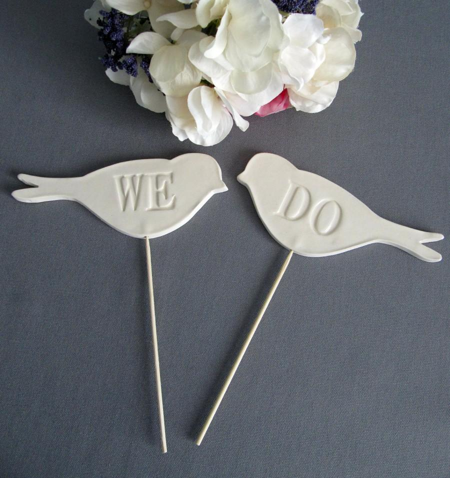 Mariage - We Do Bird Wedding Cake Toppers