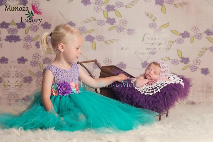 57945898 The Little Mermaid tutu dress, Ariel princess dress, little mermaid crochet  top tulle dress, ariel hand knit top tutu dress, disney princess