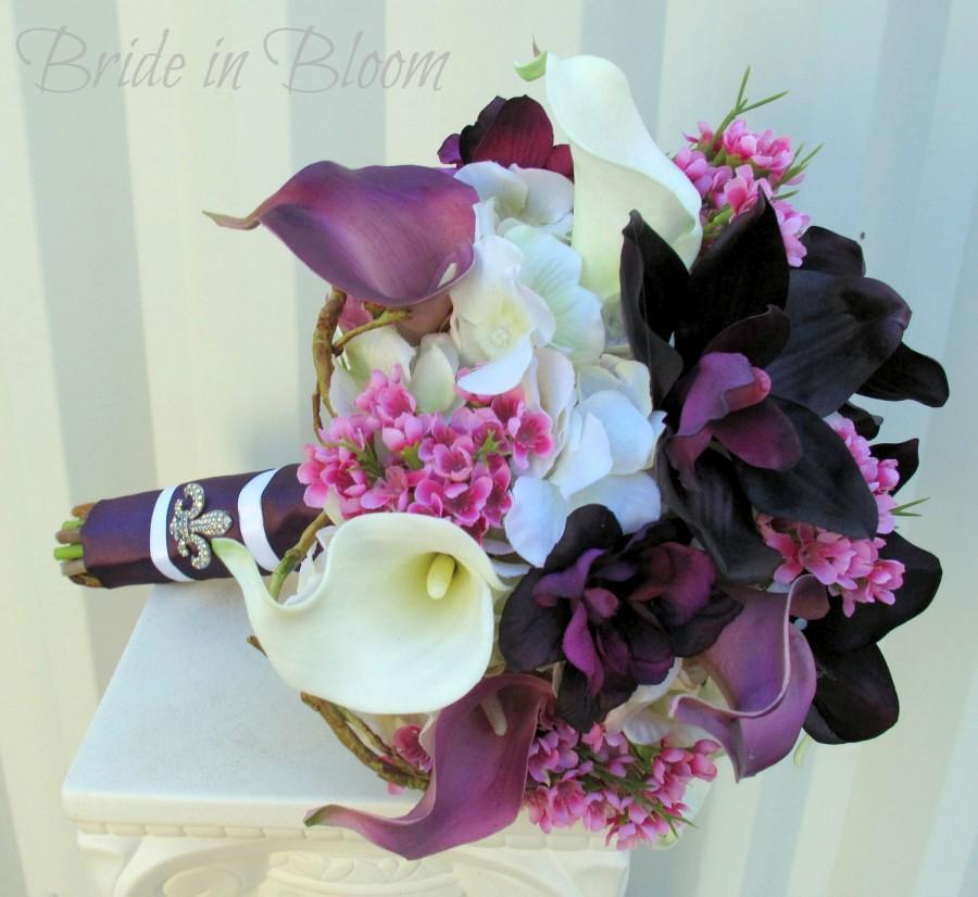 Wedding Bouquet Bridal Bouquets Plum Purple Calla Lily