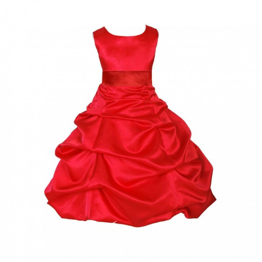 Red flower girl dress tie sash pageant wedding bridal recital red flower girl dress tie sash pageant wedding bridal recital children bridesmaid toddler childs 37 sash sizes 2 4 6 8 10 12 14 16 ombrellifo Gallery