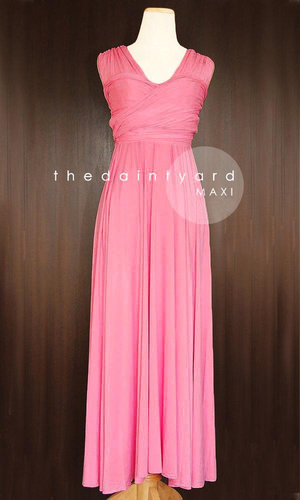 MAXI Rouge Bridesmaid Dress Convertible Dress Infinity Dress ...