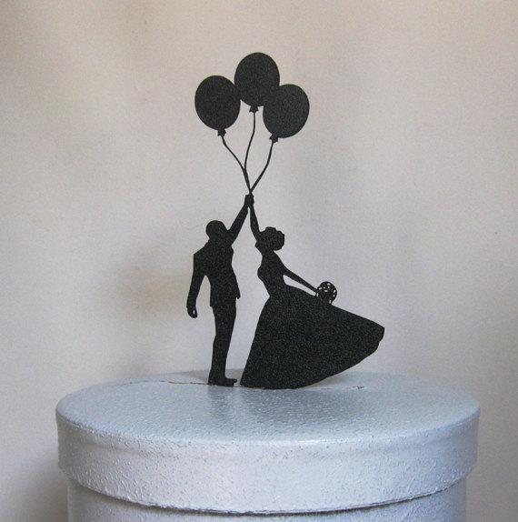 Mariage - Wedding Cake Topper - Balloon Wedding